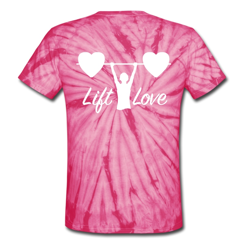 Lift Love Tie-Dye BACK - Unisex Tie Dye T-Shirt