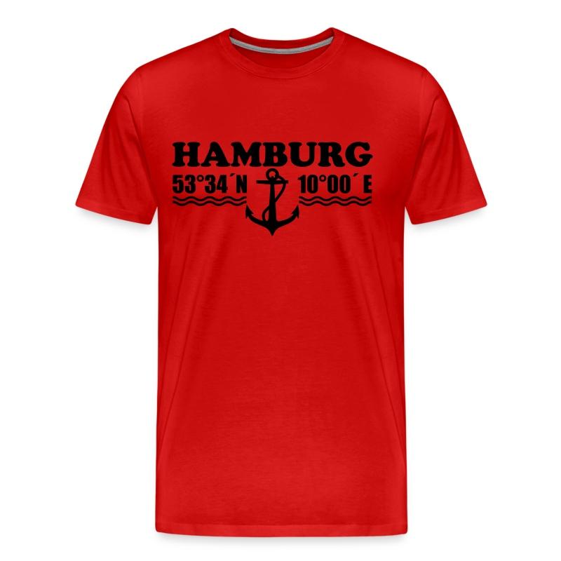 hamburg koordinaten anker coordinates anchor 1c t shirt spreadshirt. Black Bedroom Furniture Sets. Home Design Ideas