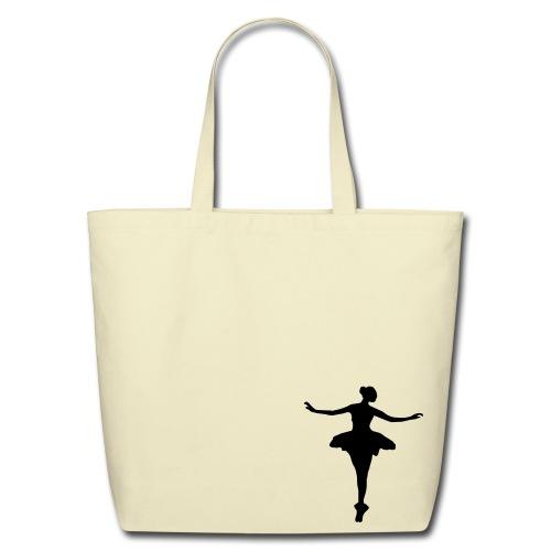 Ballerina Bag - black on white - Eco-Friendly Cotton Tote