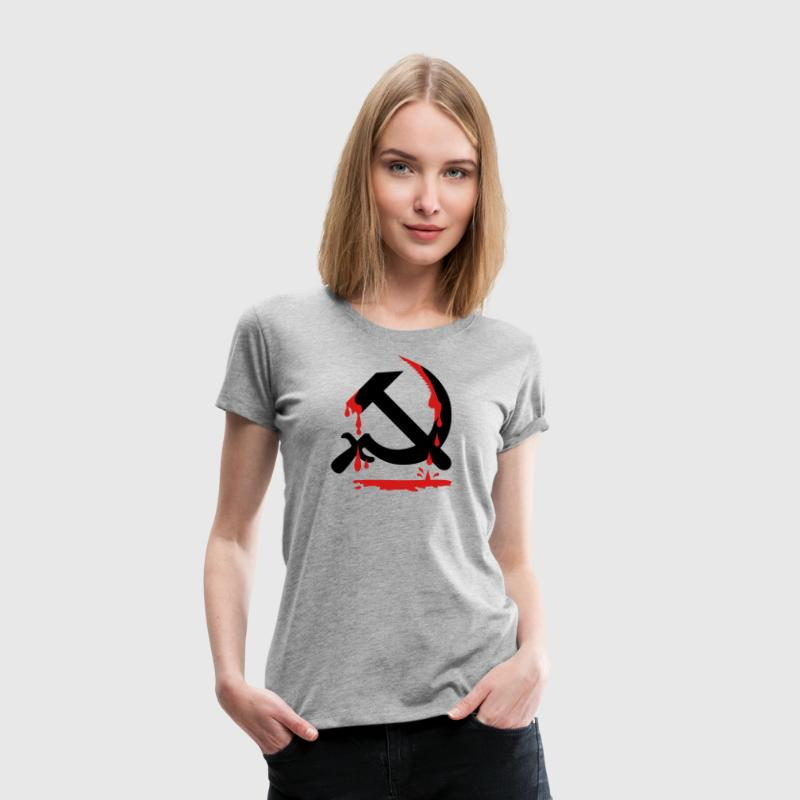 Hammer Sickle CCCP USSR Coat of Arms Russia Tee - Women's Premium T-Shirt