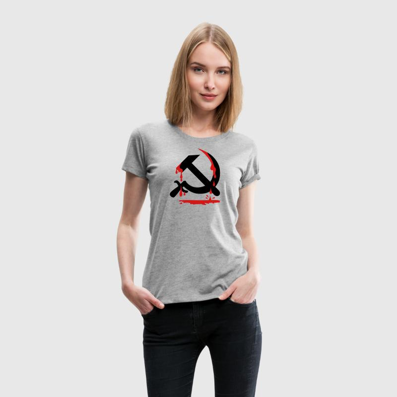 Hammer and Sickle CCCP USSR Coat of Arms Russia Wo - Women's Premium T-Shirt