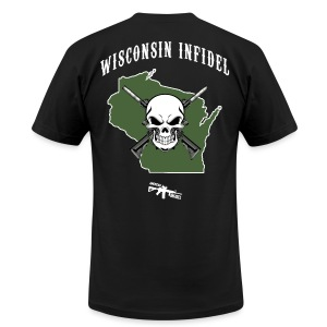 Wisconsin Infidel - Men's T-Shirt by American Apparel
