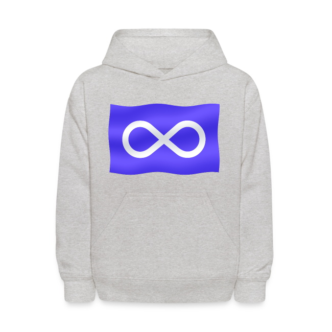 Kid's Metis Flag Hoodie Metis Children's Hooded Sweatshirt