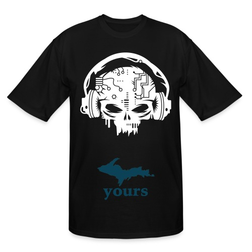 BeatBox Skele Size Up - Men's Tall T-Shirt