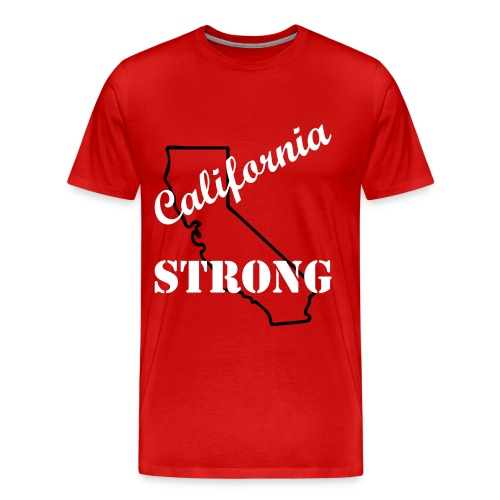 California Strong - Red - Men's Premium T-Shirt