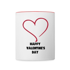 HAPPY VALENTINE'S DAY MUG - Contrast Coffee Mug
