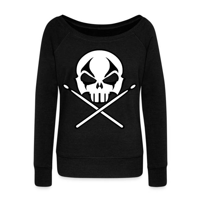 Rock & Roll Drummer Shirt Women's Metal Music Sweatshirt