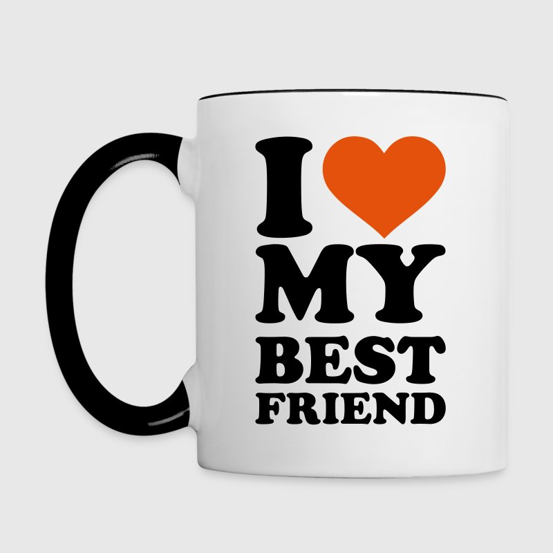 I love my best Friend Accessories - Contrast Coffee Mug