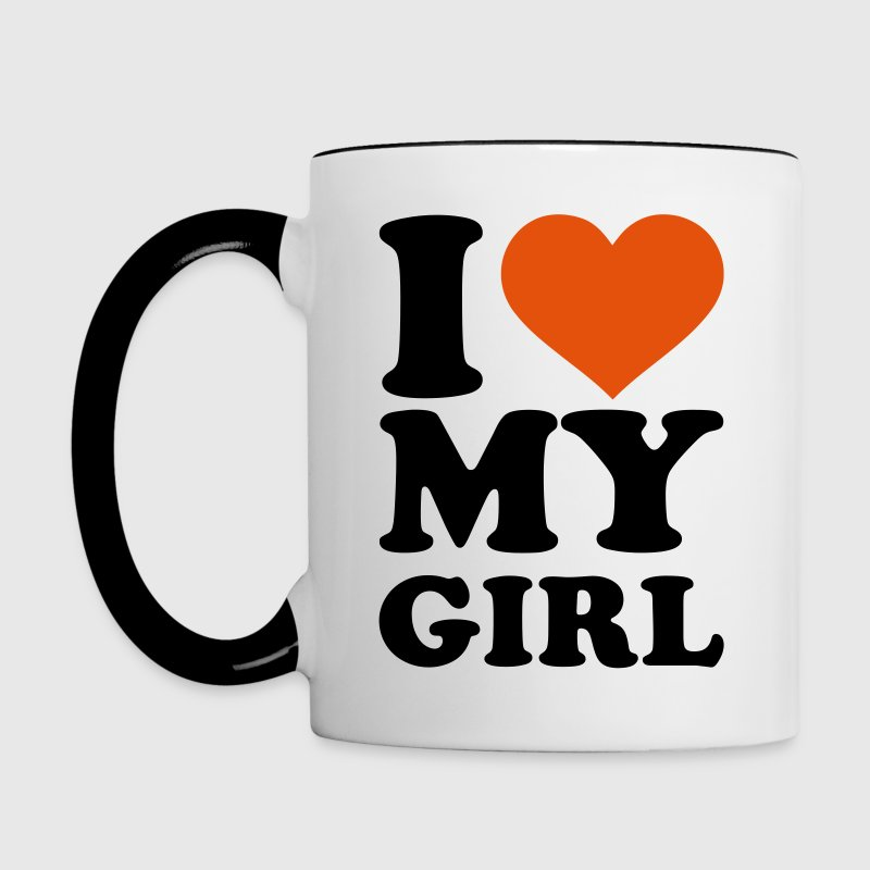 I love my girl Accessories - Contrast Coffee Mug
