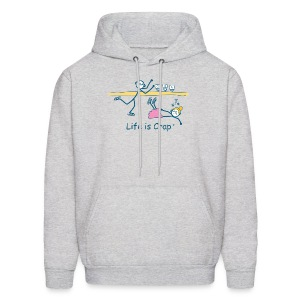 Figure Skate - Mens Hooded Sweatshirt - Men's Hoodie