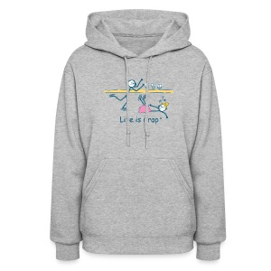 Figure Skate - Womens Hooded Sweatshirt - Women's Hoodie