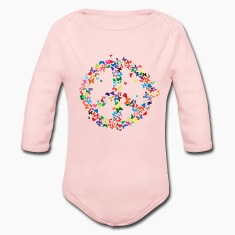 Peace butterflies Baby & Toddler Shirts
