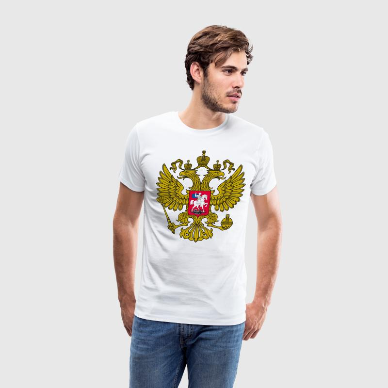 Gerb Rossii Old Coat of Arms of Russia Gold Shirt - Men's Premium T-Shirt