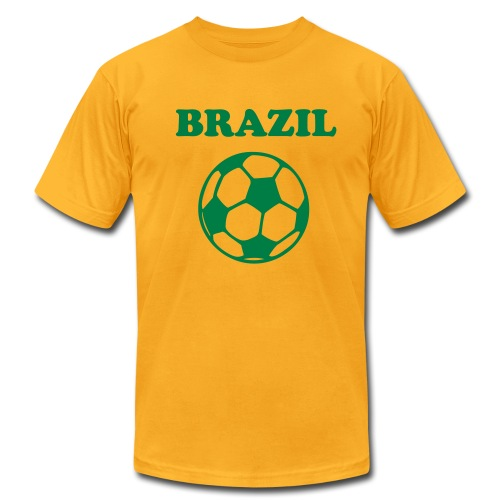 Brazil football - Men's Fine Jersey T-Shirt