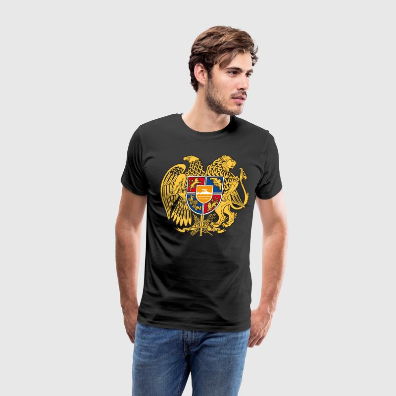 Gerb Armenia Coat of Arms Flag  USSR Gold Man Desi - Men's Premium T-Shirt