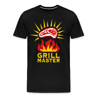 T-Shirts ~ Men's Premium T-Shirt ~ Grill Master Barbecue BBQ grilled delicious meat 3c Design men's T-Shirt
