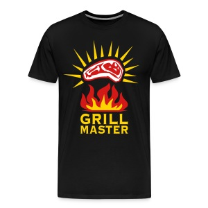 Grill Master Barbecue BBQ grilled delicious meat 3c Design men's T-Shirt - Men's Premium T-Shirt