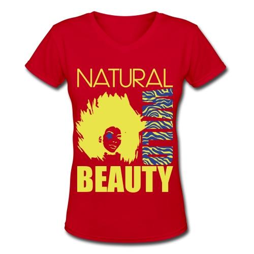 Natural V neck - Women's V-Neck T-Shirt