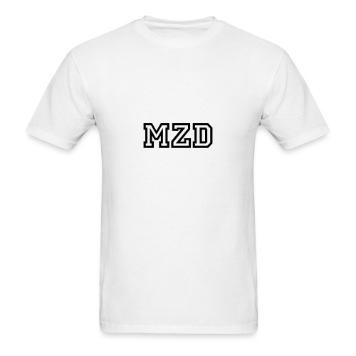 MZD White and Black - Men's T-Shirt
