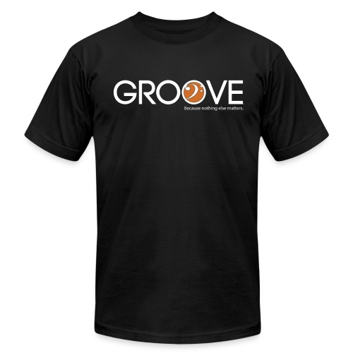 GROOVE: Because nothing else matters (orange)  - Men's T-Shirt by American Apparel