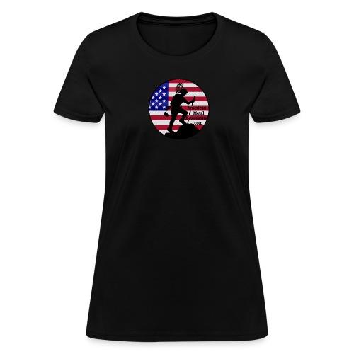 Lady Detectorist front - Women's T-Shirt