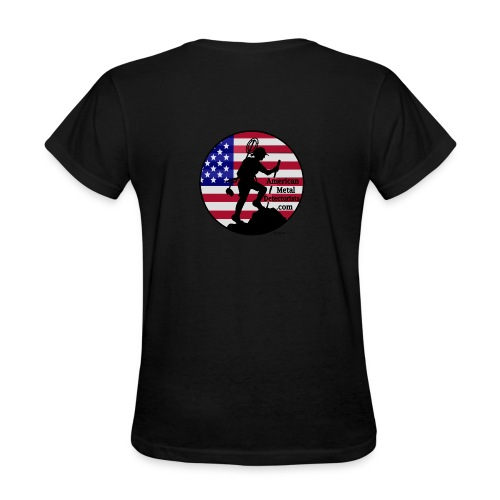 Lady Detectorist back - Women's T-Shirt