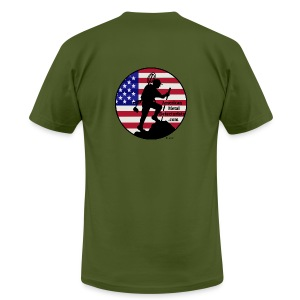 Detectorist back - Made in USA - Men's T-Shirt by American Apparel
