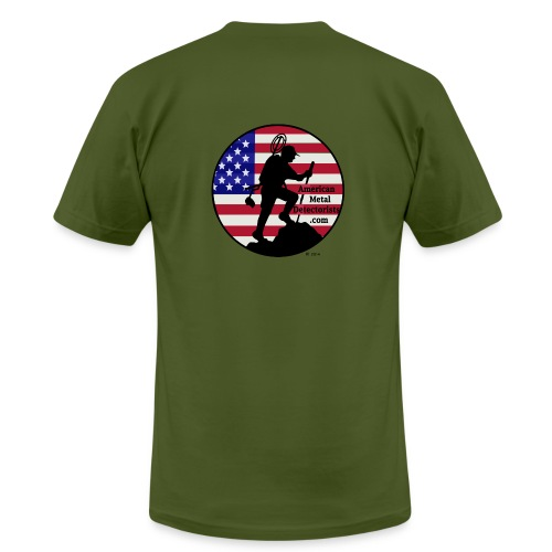 Detectorist back - Made in USA - Men's Fine Jersey T-Shirt