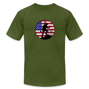 Detectorist  front - Made in USA - Men's T-Shirt by American Apparel