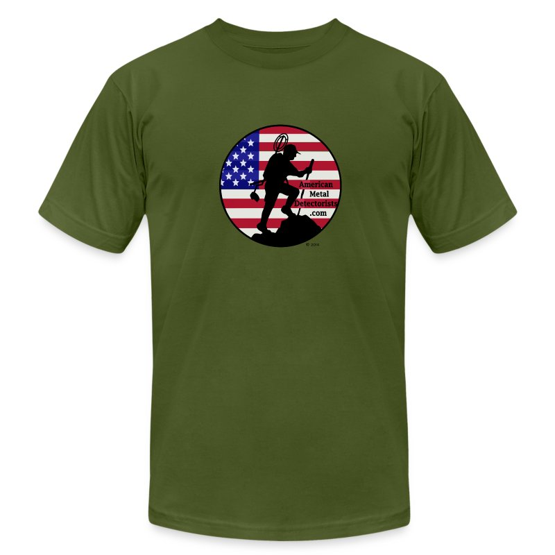 Detectorist  front - Made in USA - Men's Fine Jersey T-Shirt