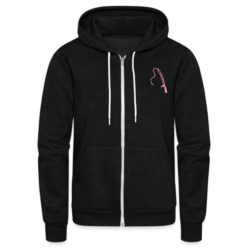 Pole & Bobbers Zip Up - Unisex Fleece Zip Hoodie by American Apparel
