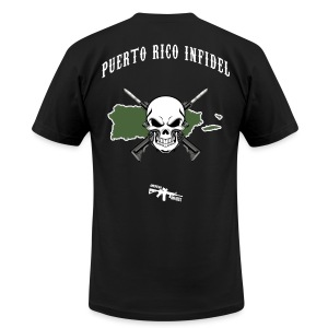 Puerto Rico Infidel - Men's T-Shirt by American Apparel