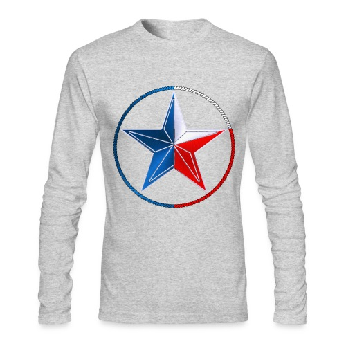 Red White & Blue Texas Lone Star - Men's Long Sleeve T-Shirt by Next Level