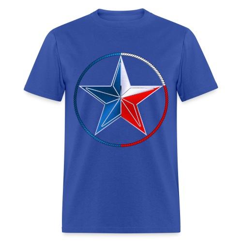 Red White & Blue Texas Lone Star - Men's T-Shirt