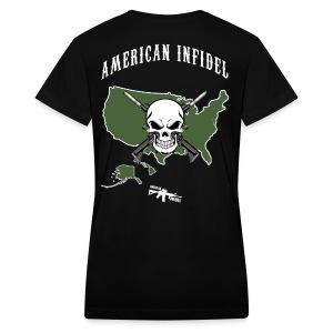 American Infidel - Women's V-Neck T-Shirt