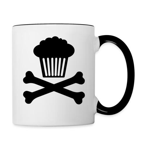 Muffin in x-bones mug - Contrast Coffee Mug