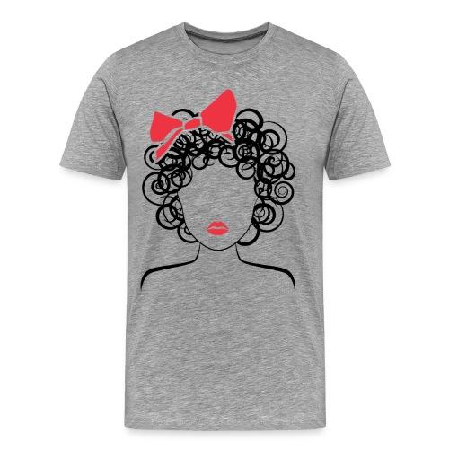 CoilyGirl  (red bow) Plus - Men's Premium T-Shirt