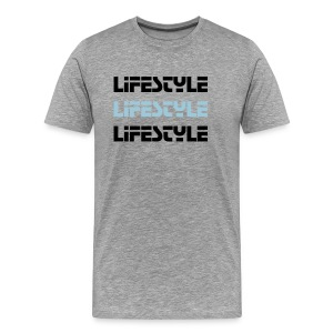 Lifestyle Grey/Black/BabyBlue - Men's Premium T-Shirt