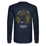 Long Sleeve Shirts ~ Men's Long Sleeve T-Shirt ~ Men's long sleeve t-shirt white/gold logo white/gold artwork