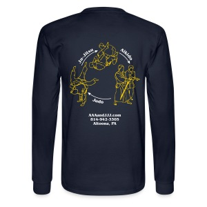 Men's long sleeve t-shirt white/gold logo white/gold artwork - Men's Long Sleeve T-Shirt