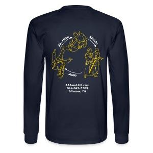 Men's long sleeve t-shirt white/gold logo white/gold artwork - Men's Long Sleeve T-Shirt