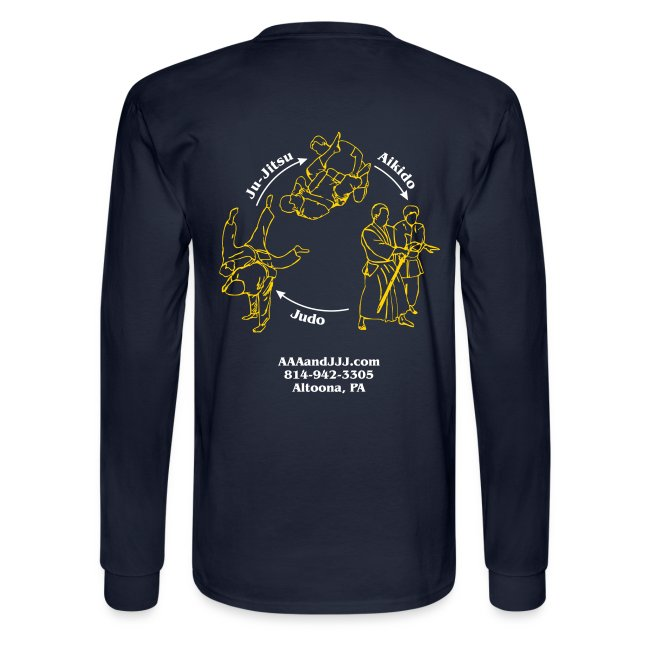 Men's long sleeve t-shirt white/gold logo white/gold artwork