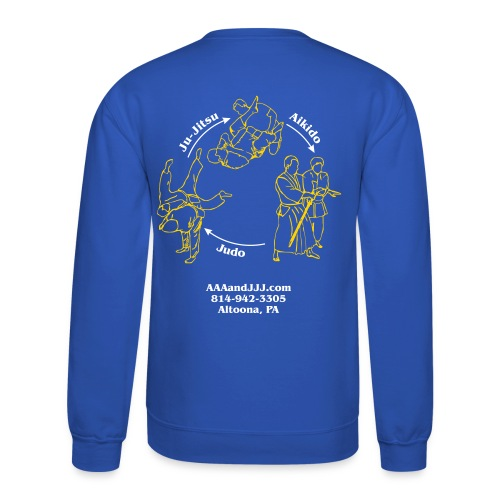 Men's crewneck sweatshirt white/gold logo white/gold artwork - Crewneck Sweatshirt