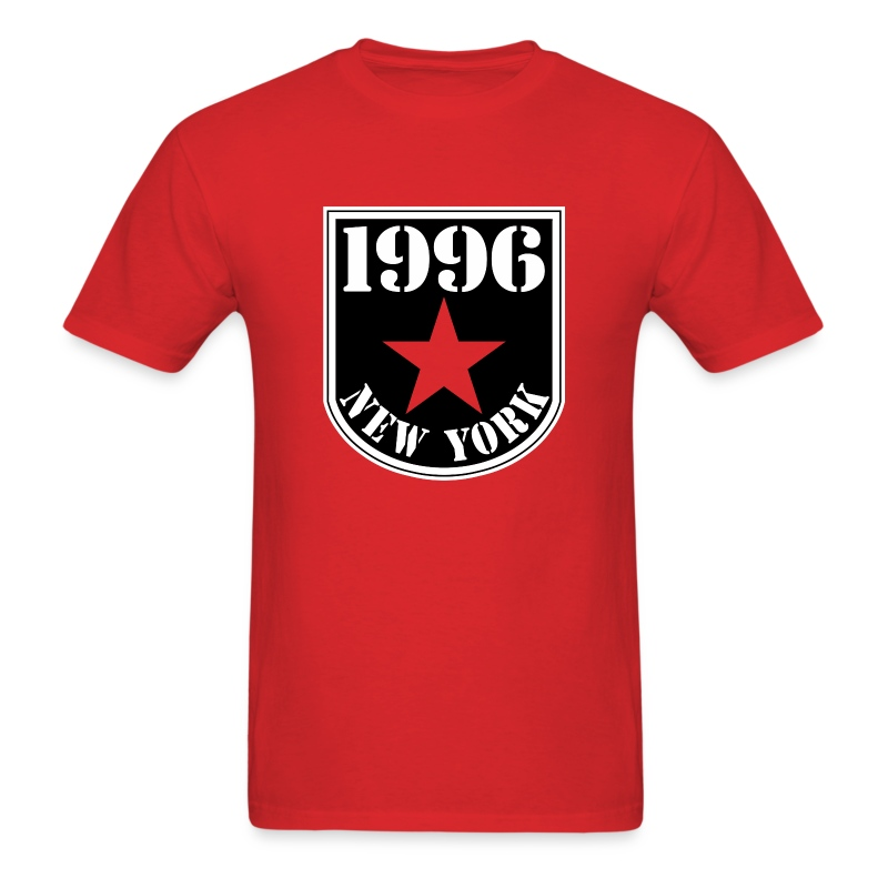 Red 1996 NY Love the Club Hate the Brand Men's T-shirt - Men's T-Shirt