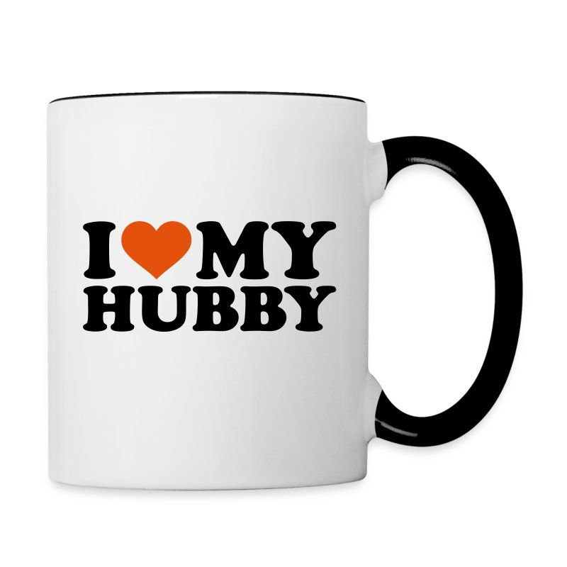 I love my Hubby Accessories - Contrast Coffee Mug
