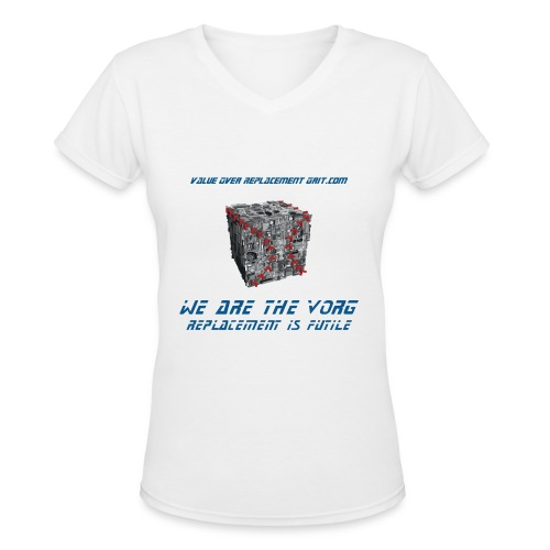VORG CUBE WOMEN'S V-NECK T-SHIRT - Women's V-Neck T-Shirt
