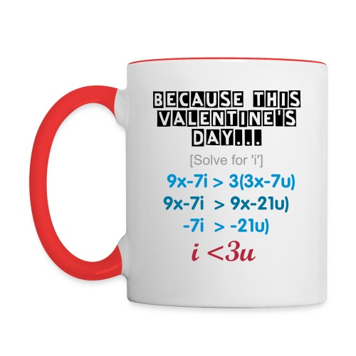 Valentines Day Math Mug - Contrast Coffee Mug