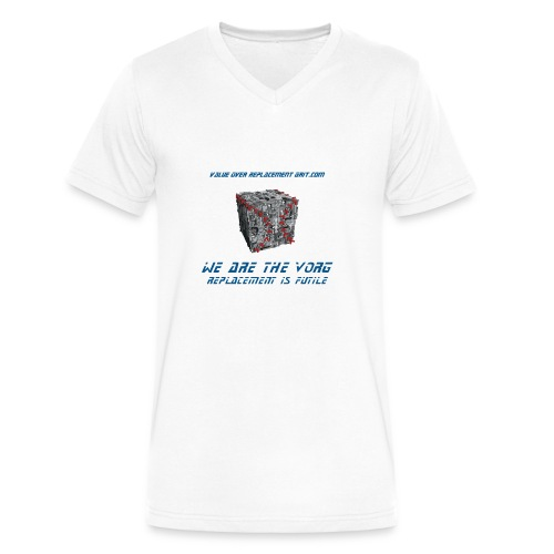 VORG CUBE MEN'S V-NECK T-SHIRT - Men's V-Neck T-Shirt by Canvas