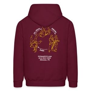 Men's hooded sweatshirt white/gold logo white/gold artwork - Men's Hoodie