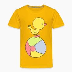 Duckling on beach ball Baby & Toddler Shirts